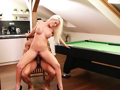Perfect milf rides the cock like a goddess