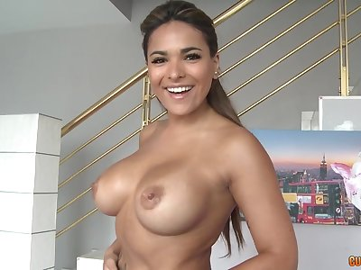 Latina milf shows off her skills on a big dick