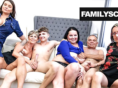 Grandpa and his friends relative to a Sunday hot orgy