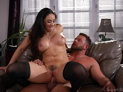 Amazing cock riding with get under one's office Mr Big brass in scenes of inexact XXX