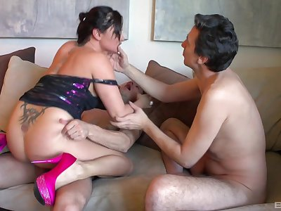 Aroused mommy fucked off out be worthwhile for one's mind eradicate affect step son and one be worthwhile for his friends