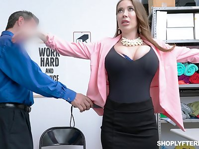Giant breasted slutty MILF Bianca Burke is bent yield together with fucked doggy wits cop