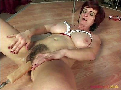 Carnal knowledge machine fun for Piroska - Hungarian hairy MILF